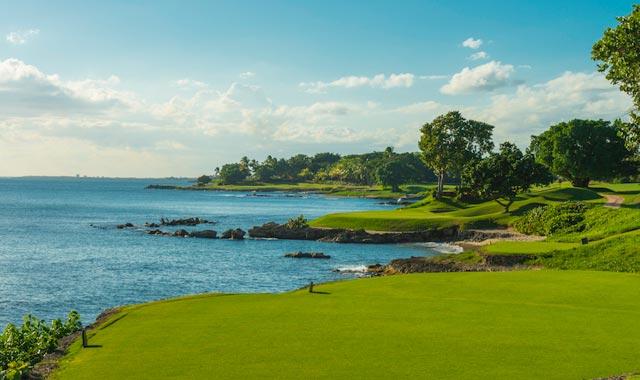 República dominicana golf: Diente de Perro hoyo 12