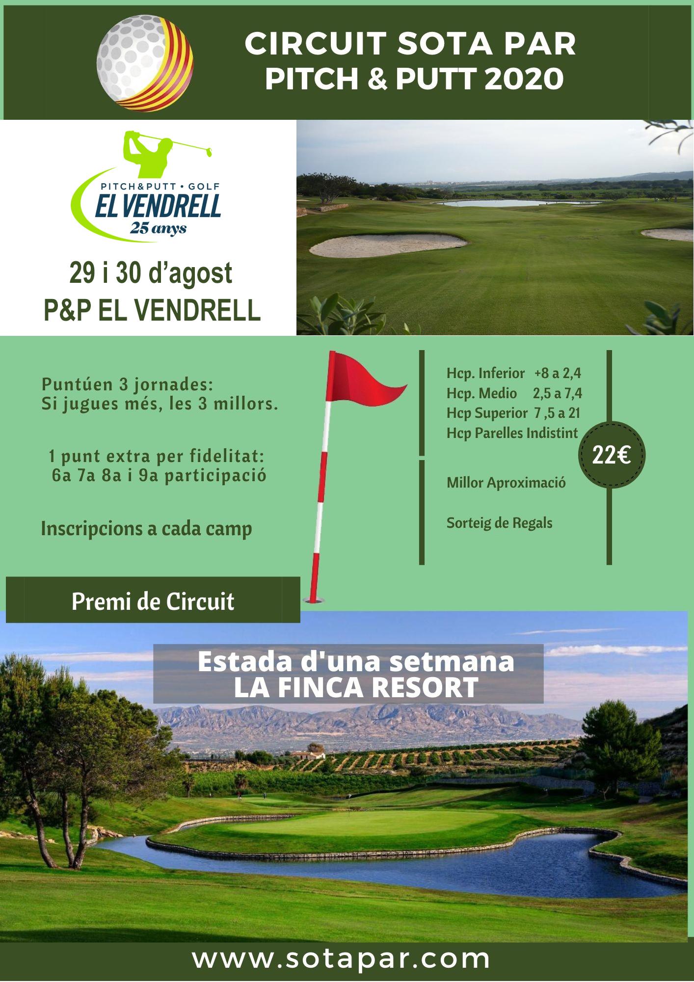 Torneo P&P El Vendrell 29 y 30 agosto