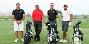 Fases de una vuelta de golfista aficionado.