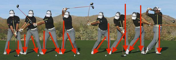Usa la fuerza del suelo en tu swing.